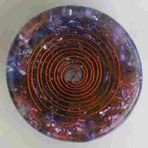 """SBB coil on underside of Orgonite Healing tool """"St Buster's Button"""""""