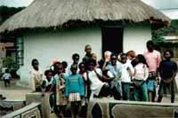orgone gifting with orgonite in Venda - village kids
