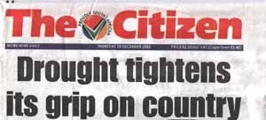 Newspaper Headline: Here The Citizen from 18 Dec 2003