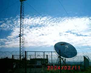 rippled cloud behind HAARP array