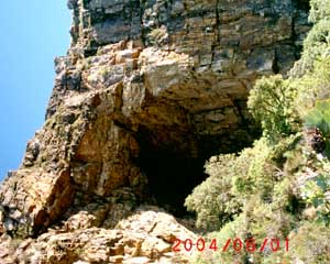 the cave at the end of the path