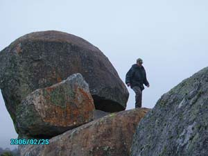 Climbing some steep rocks to find that elusive vortex and gift it with orgone energy