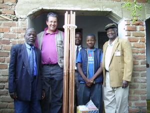 Dr Chipangula, colleagues and orgonite chembuster