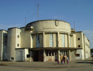 Orgone energy gifting tour Malawi: Art Deco Fire Station Beira