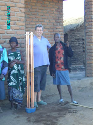 Orgone energy gifting tour to Malawi: CB in Chipanga
