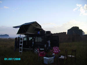 Orgone energy gifting tour to Malawi: Camping out in Chipanga
