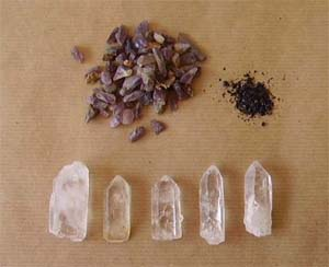 Make your own orgonite HHG: Our typical ingredients