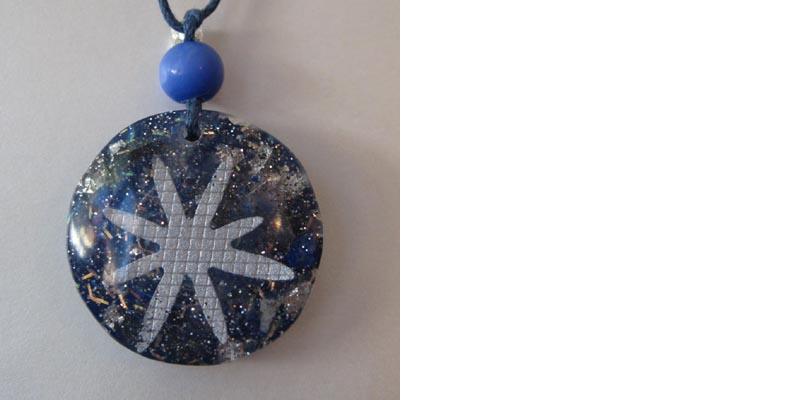 Small Lapis Lazuli Orgonite Pendant