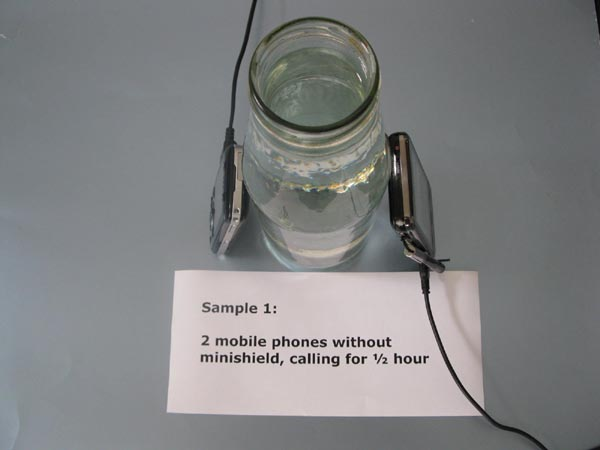 orgonite mobil phone radiation emf protection experiment