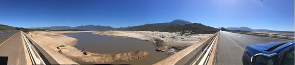 Empty dams Cape Town