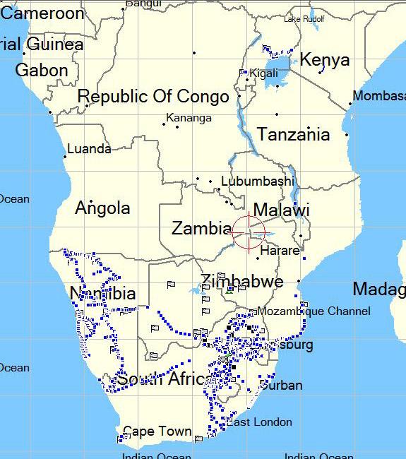 orgonite distribution africa 2004