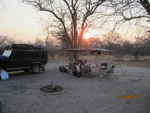 Our camp at Tsodilo