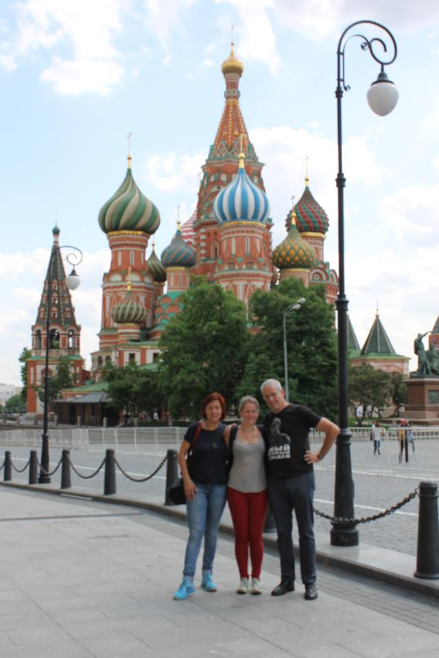 The obligatory tourist picture Orgonise Africa in Moscow