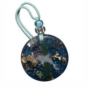 Small turquoise orgonite pendant