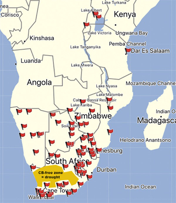 Cloudbusters in Souther and Central Africa