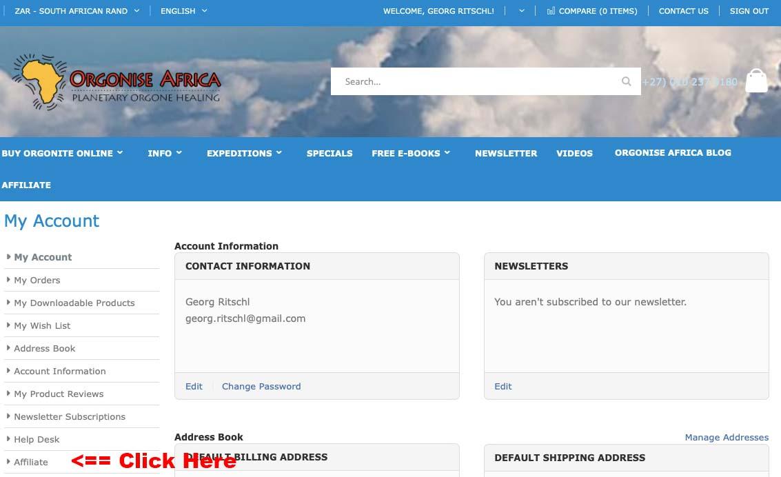 Orgonise Africa Affiliate Program - Click on affiliate